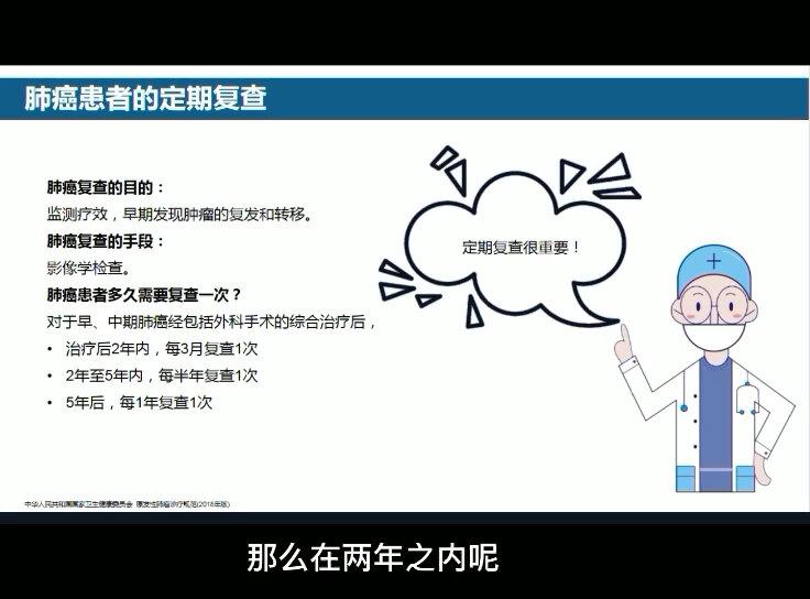 杨农教授PPT讲解:肺癌患者的复查及饮食